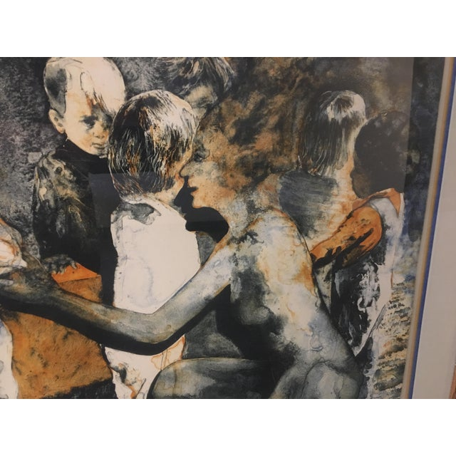 """""""The Gift"""" Ruth Weisberg Lithograph For Sale - Image 9 of 11"""