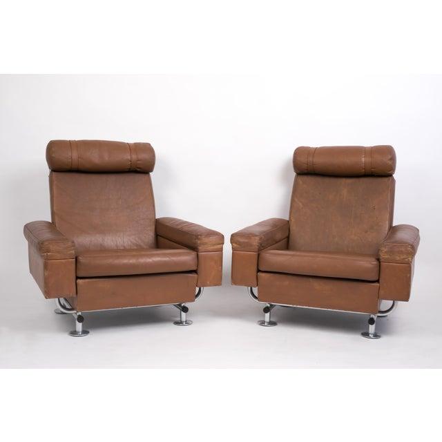 Animal Skin Pair of Illum Wikkelsø High-Backed Lounge Chairs for Ryesberg Møbler For Sale - Image 7 of 7
