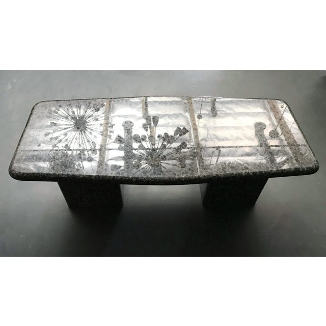 1970s Mid-Century Granite Coffee Table For Sale - Image 5 of 11