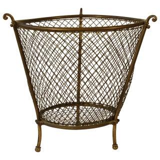 1920s English Wastepaper Basket For Sale