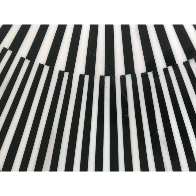 """White Made Goods """"Carlatta"""" Coffee Table Tessellated Black and White Resin For Sale - Image 8 of 11"""