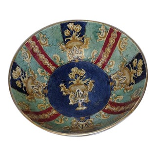 Chinese Export Hand Painted Enamel Porcelain Bowl For Sale