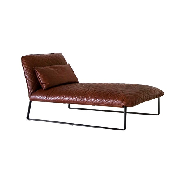 Featured in The 2020 San Francisco Decorator Showcase — Piet Boon Leather Kekke Lounge Chair For Sale