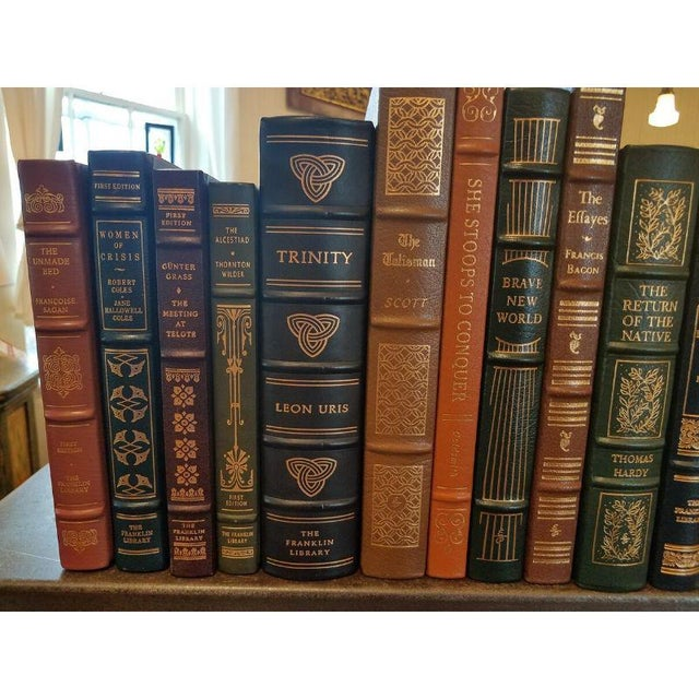 Traditional Collection of Franklin/Eaton Vintage Leather Books - Set of 40 For Sale - Image 3 of 8