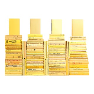 Midcentury Yellow Book Wall, S/100