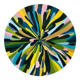 "Image of Circular Abstract Painting ""Petals Rising"" For Sale"