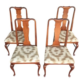 1963 Thomasville Queen Anne Chairs - Set of 4 For Sale