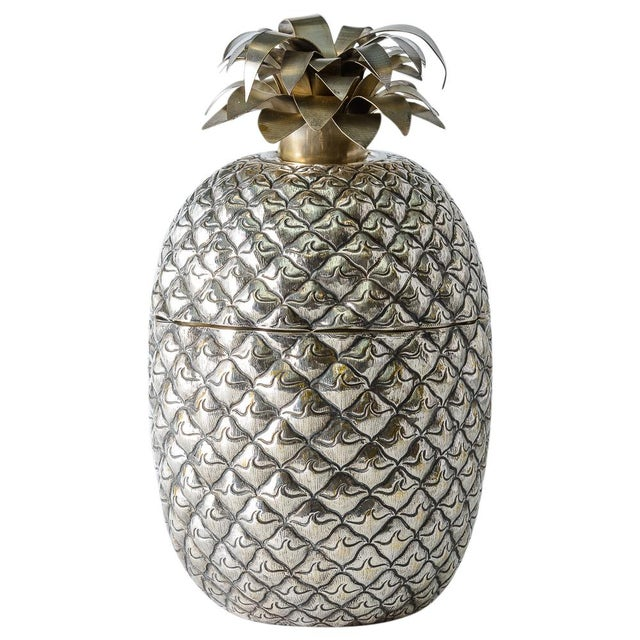 Fabulous Giant Pineapple Silver Box/Ice Bucket Portugal For Sale - Image 4 of 10