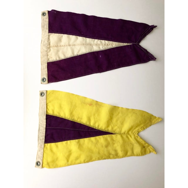 Vintage Nautical Signal Flags- a Pair For Sale - Image 13 of 13