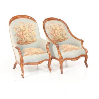French Provincial Style Upholstered Armchairs- a Pair Preview