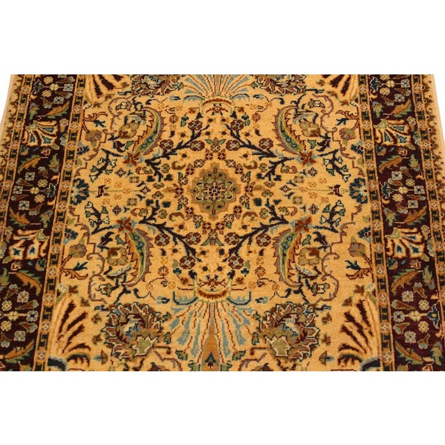 Textile Semi Antique Istanbul Joellen Tan/Red Turkish Hand-Knotted Rug -3'1 X 5'4 For Sale - Image 7 of 8