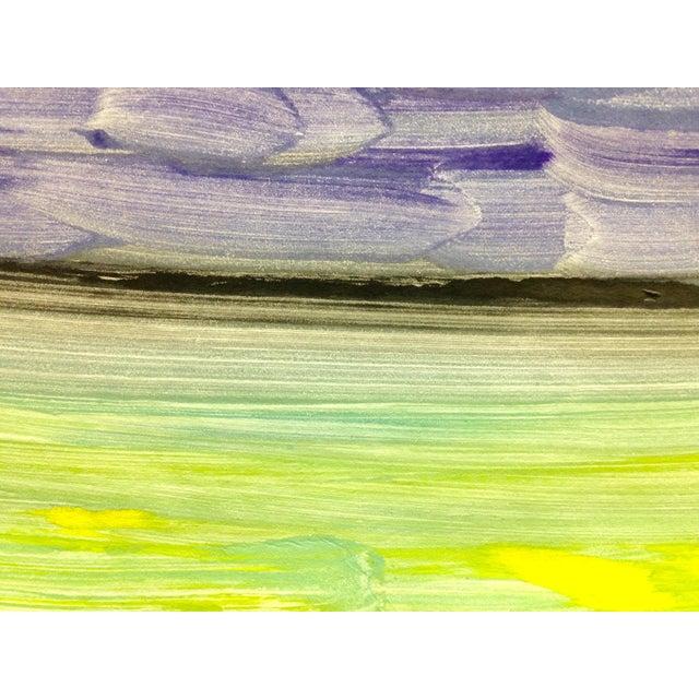"""Purple Night"" Handmade Ocean Print, 2016 - Image 4 of 4"