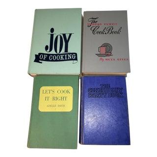 Mid-Century Cook Books - Set of 4
