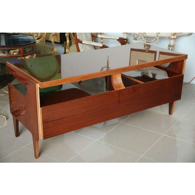 1950s Italian Modern Mahogany and Walnut Desk, Paolo Buffa For Sale - Image 5 of 5