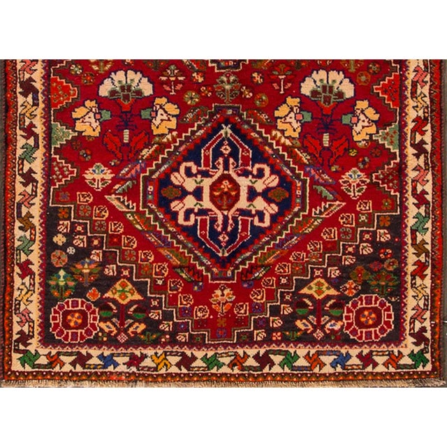 """Mid 20th Century Mid-20th Century Vintage Persian Shiraz Rug, 3'6"""" X 5' For Sale - Image 5 of 7"""