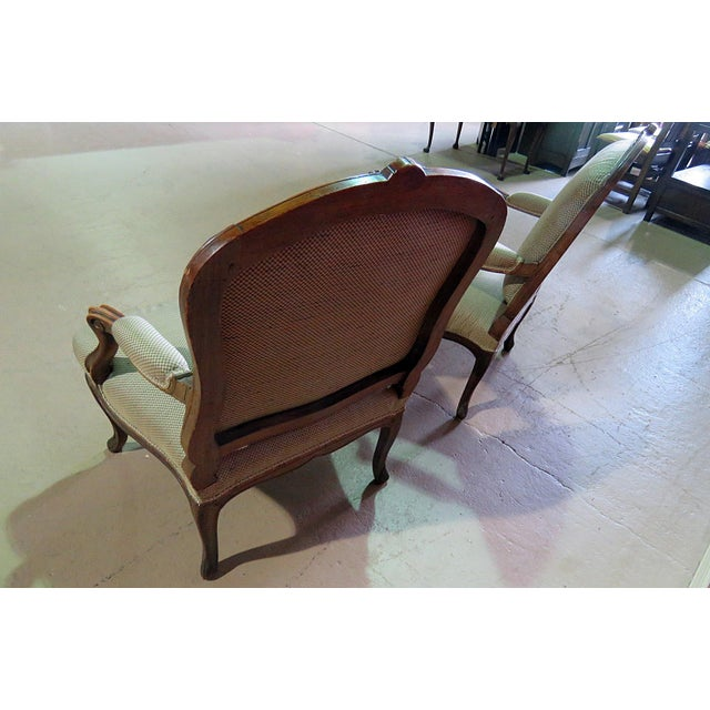 Early 20th Century Louis XV Style Fauteuil Chairs - a Pair For Sale - Image 5 of 8
