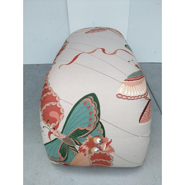 1970s 1970's Modern Asian Style Upholstered Bench For Sale - Image 5 of 12