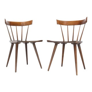 1960s Vintage Paul McCobb Planner Group Windsor Style Dining Chairs- a Pair For Sale
