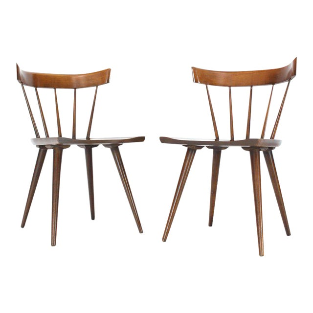 1960s Vintage Paul Mccobb Planner Group Windsor Style Dining Chairs A Pair