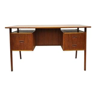 1960s Danish Modern A.p. Svenstrup Teak Floating Writing Desk For Sale