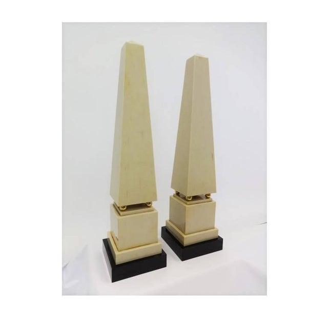 Pair of Large Modernist Bone Obelisks For Sale In Dallas - Image 6 of 6