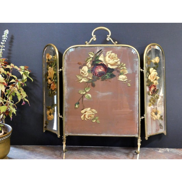 Antique Decorative Fireplace Screen For Sale - Image 9 of 10