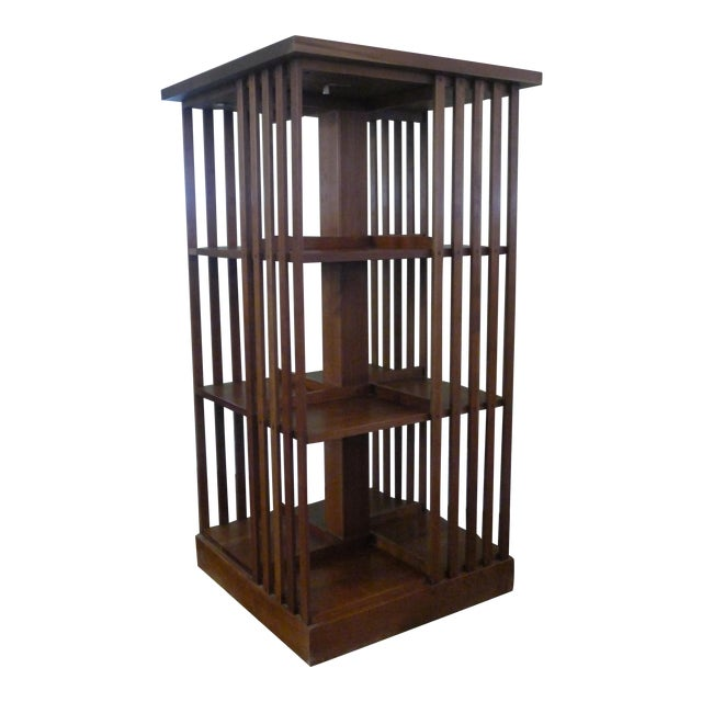 Stickley Mission Cherry Revolving Bookcase - Image 1 of 6