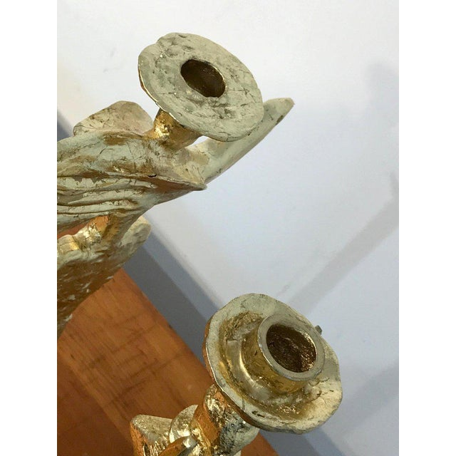 Pierre Casenove Pair of Gilt Bronze Figural Candlesticks by Pierre Casenove for Fondica For Sale - Image 4 of 13