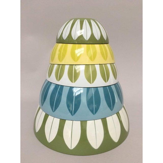 Cathrineholm Cathrineholm Scandinavian Modern Enamel Nesting Bowls - Set of 5 For Sale - Image 4 of 11