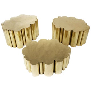 Cloud Tables in Brass by Kam Tin For Sale