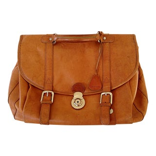 Italian Leather Satchel/Briefcase/Luggage For Sale