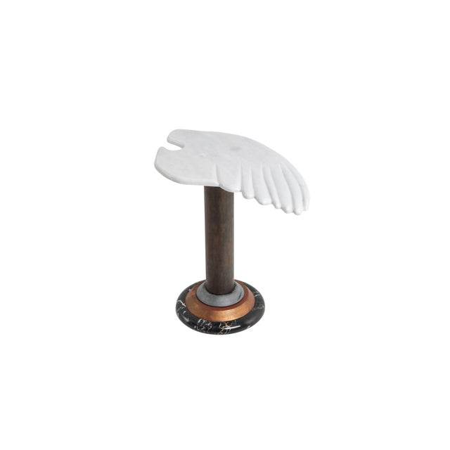 Marble Angel Wing Side Table For Sale