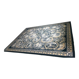 Yellow & Blue Floral Area Rug - 8′ × 11′ For Sale
