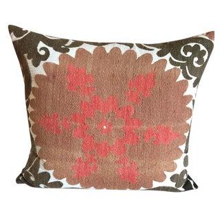 Vintage Gulkurpa Suzani Floor Pillow For Sale