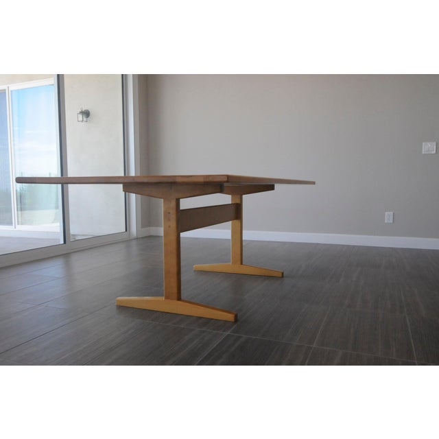 Solid Beech Trestle Table - Image 5 of 9