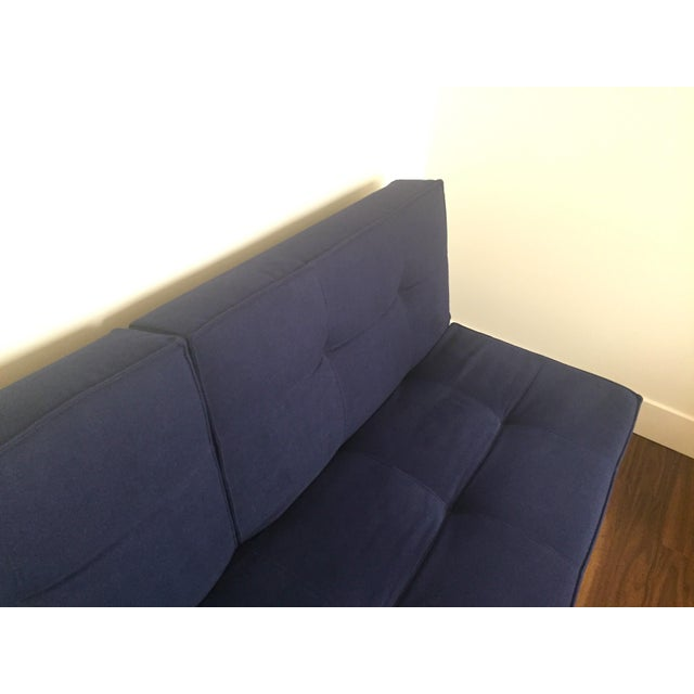 Abc Carpet & Home Crashpad Divided Daybed Sofa in Navy For Sale In San Francisco - Image 6 of 11