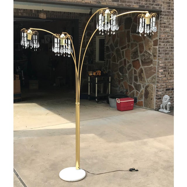 Vintage Mid Century Waterfall Floor Lamp With Marble Base For Sale - Image 13 of 13