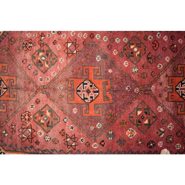 Primitive Antique Caucasian Hand Knotted Traditional Rug - 4′7″ × 8′6″ For Sale - Image 3 of 5