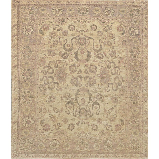 Persian Mansour Exceptional Quality Handwoven Sultanabad Rug - 8' X 10' For Sale - Image 3 of 3