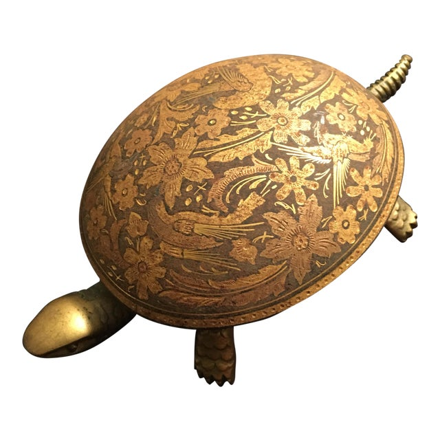 Antique Boj Eibar Bell Ring Service Turtle For Sale
