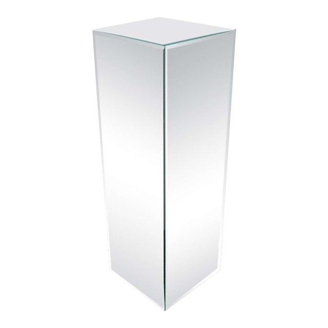 Modernist Hand Beveled Mirrored Pedestal For Sale