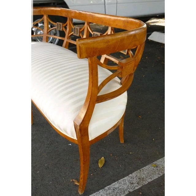 Brown 19th C Italian Neoclassical Fruitwood Settee For Sale - Image 8 of 10