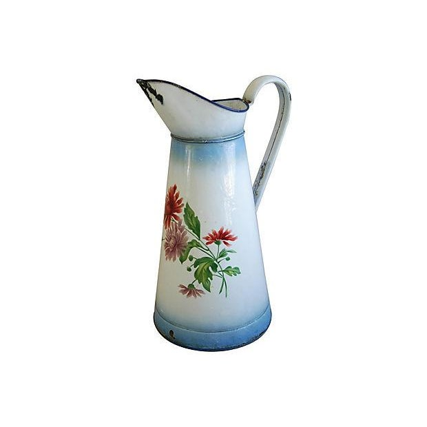 1920s Vintage French Hand-Painted Enameled Pitcher - Image 7 of 7