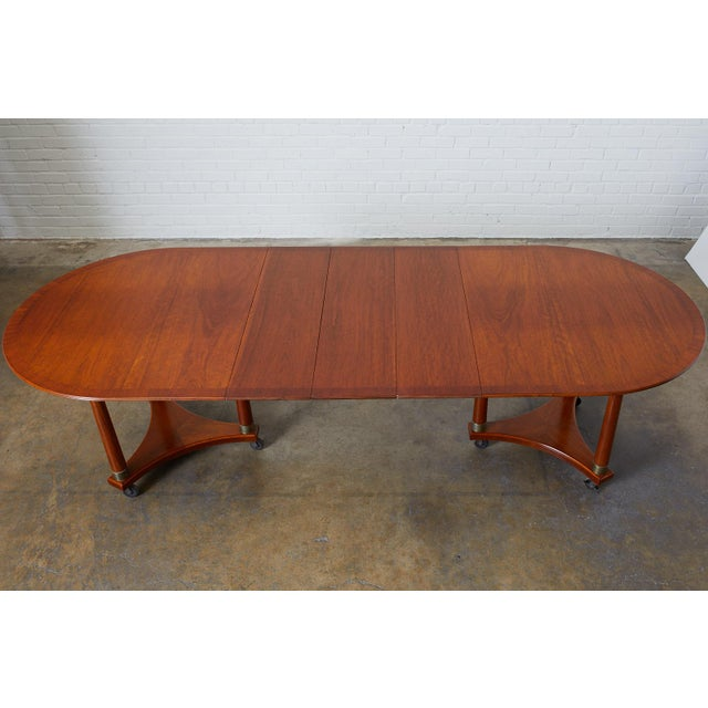 Biedermeier Swedish Biedermeier Style Library or Dining Table For Sale - Image 3 of 13