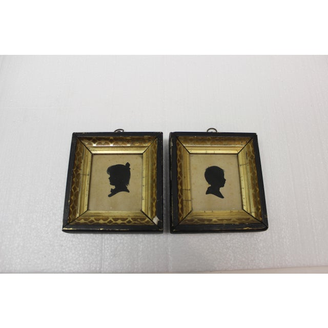 Antique Silhouette Miniatures - a Pair For Sale - Image 4 of 9