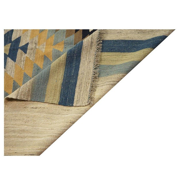 "New Afghan Kilim Rug - 6'7"" x 9'7"" For Sale - Image 4 of 5"