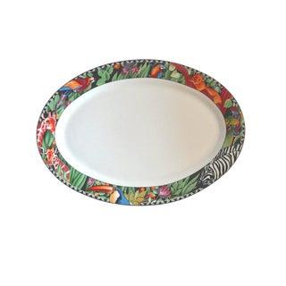 Vintage Magic Jungle Pattern Sakura Serving Platter For Sale