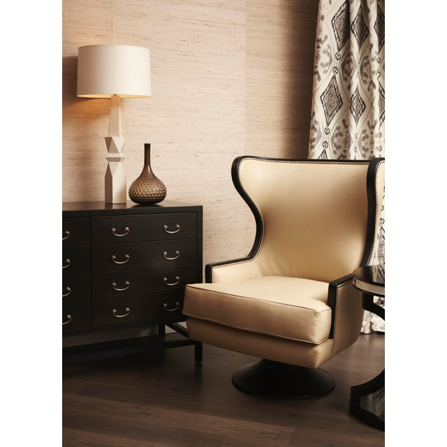 Erinn V. Erin V. Brackpool Wingback Swivel Chair For Sale - Image 4 of 6
