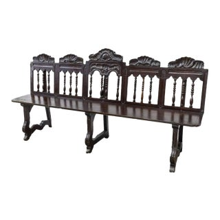 Rustic 18th Century Spanish Long Bench For Sale