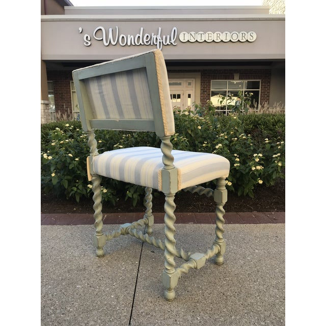 Early 20th Century Barley Twist Chairs - Set of 6 Gustavian Style For Sale - Image 5 of 10